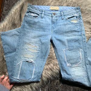 Anthropologie Sz 26 LightBlue Jeans Ankle Straight